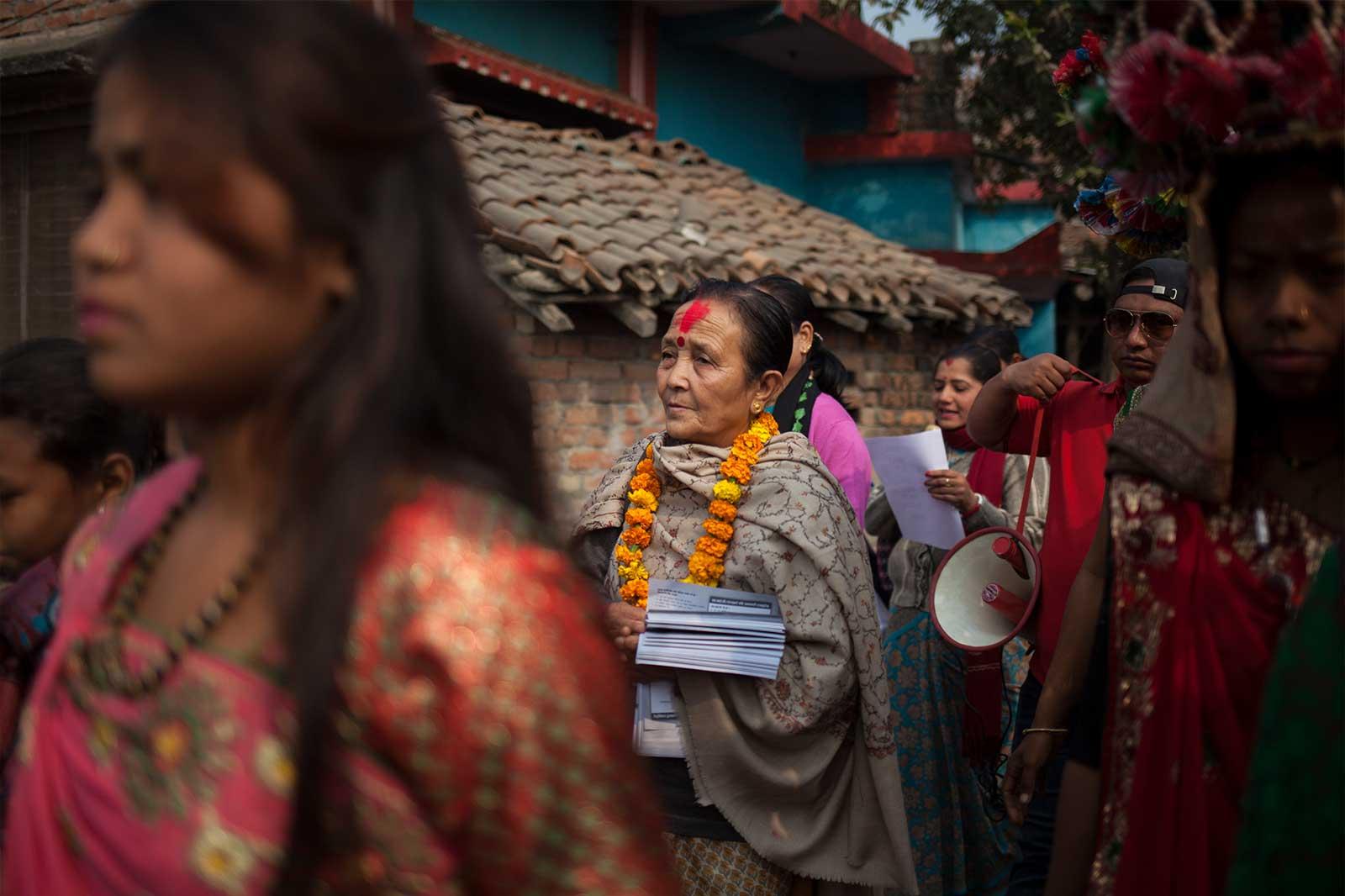 Anuradha Koirala, fundadora y directora de Maiti Nepal, organización socia de Ayuda en Acción en la lucha contra la trata en este país. Desde hace casi un cuarto de siglo combate el tráfico de mujeres, niñas y niños mediante campañas de sensibilización, casas de acogida de menores, o el rescate, asistencia legal y la rehabilitación de víctimas.