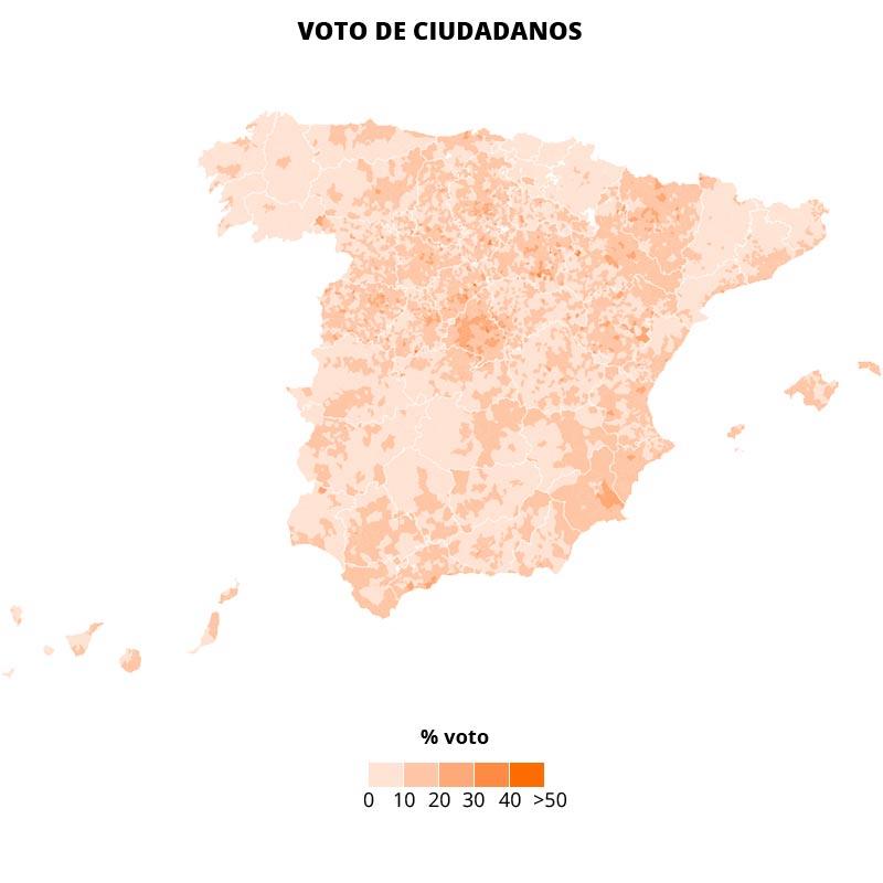 C's dispersa su voto