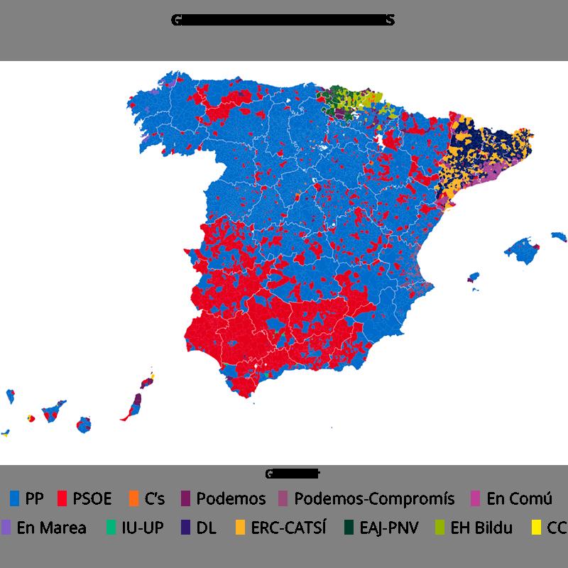 Quién ha ganado en cada municipio