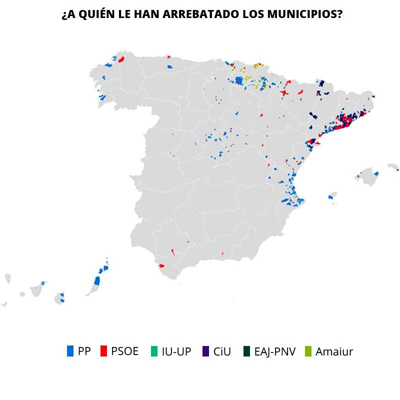 Qué partido ganó en 2011 donde ahora ganan Podemos y Ciudadanos