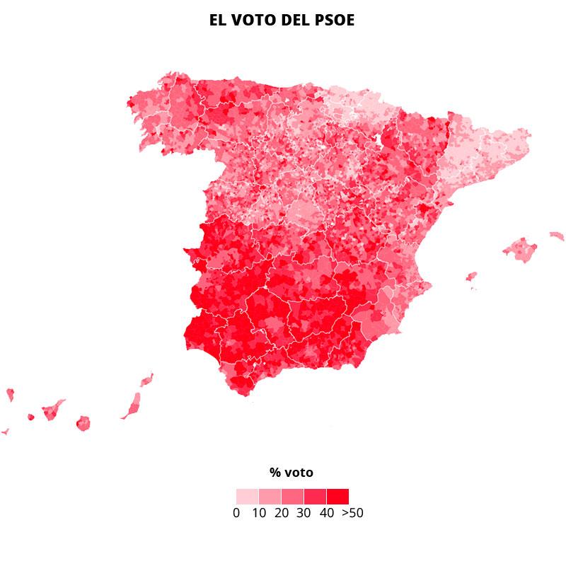 El PSOE sufre en las grandes ciudades