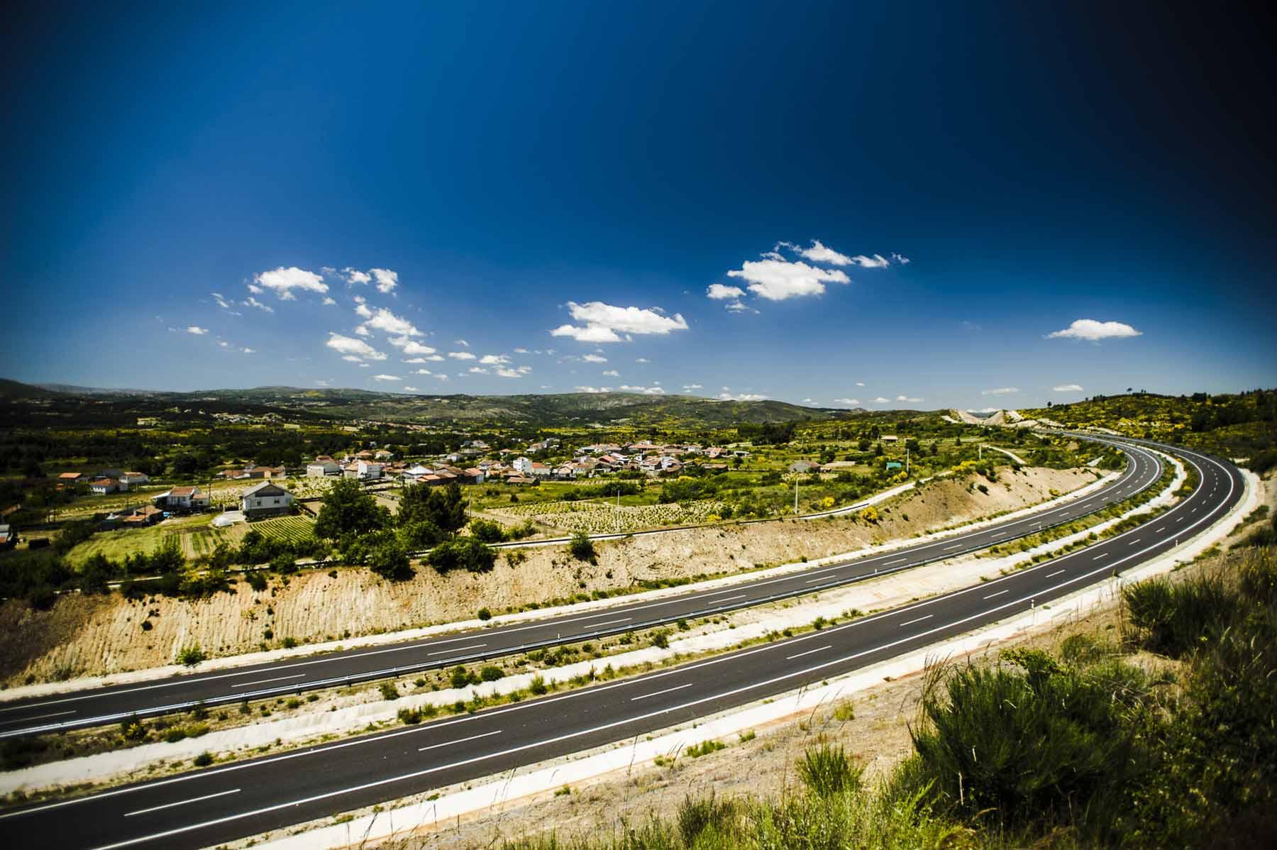 Highway A-75 Verín-Portuguese Border.
